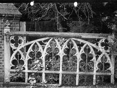 Strawberry Hill House, Twickenham - Archive photograph of original gate