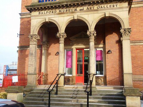 Salford Museum & Art Gallery - Refurbished portico with handrails