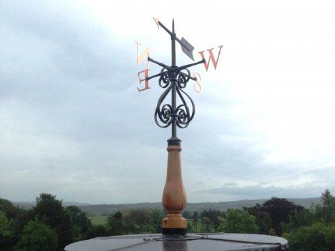 Weathervane, Ingleborough Hall, North Yorkshire - Weathervane reinstalled