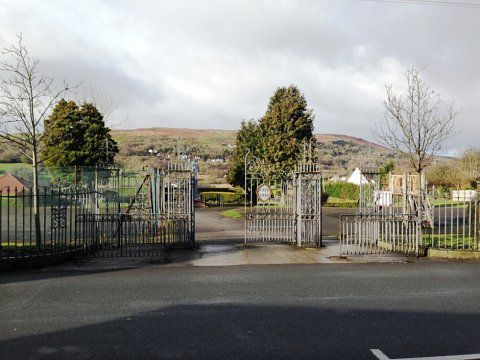 Coedpoeth Memorial Gates - Before the start of works