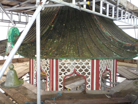The Pagoda Fountain before restoration.