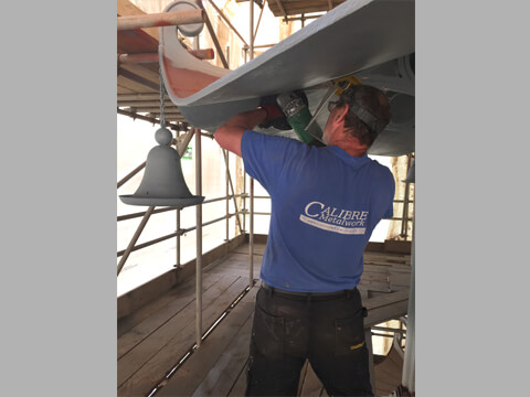 Once the entire structure was dry blast cleaned we carried out a large number of repairs.