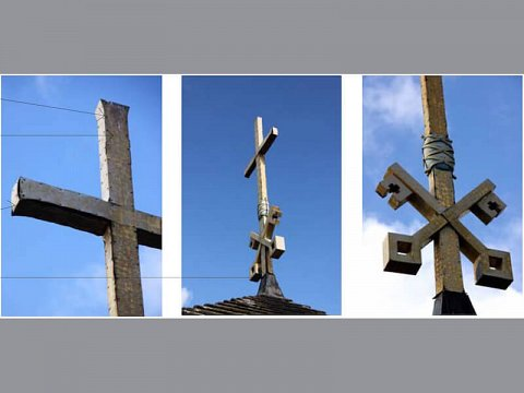 The existing cross was in a poor condition, suffering from corrosion to the supporting internal iron framework.