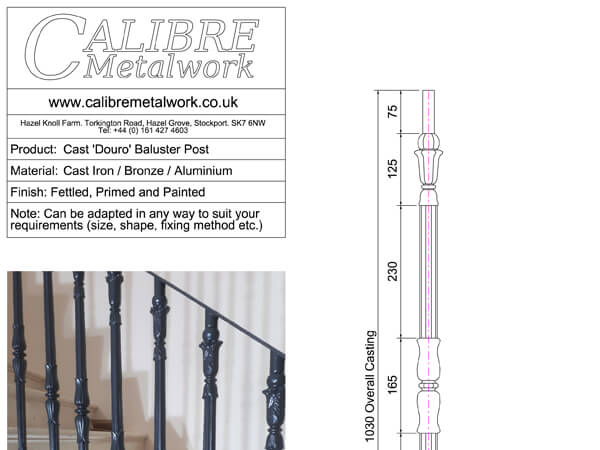Cast 'Douro' Baluster Post