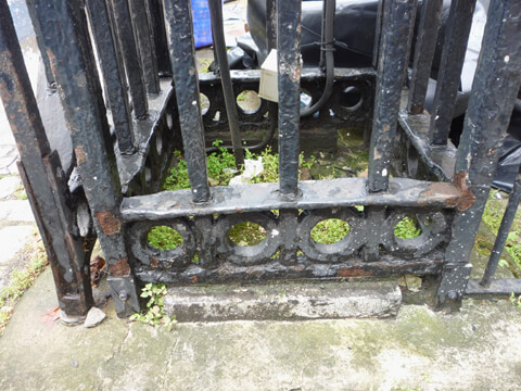 The gates had been struck by vehicles, leaving the gate frames bent the piers broken in several places. Poor quality repairs had been attempted in the past and the gates were also suffering from corrosion.