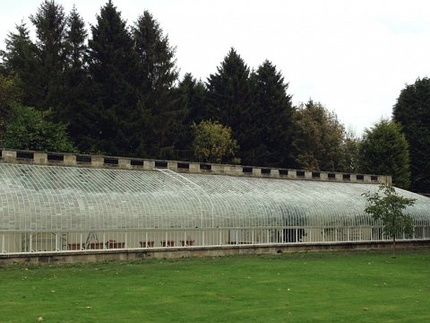 The fully restored glasshouse