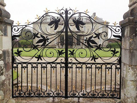 Antony House Gates, Torpoint - After restoration
