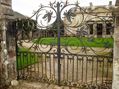 Antony House Gates, Torpoint - Before restoration