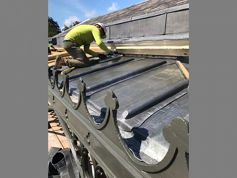 …and reinstated the lead roof…