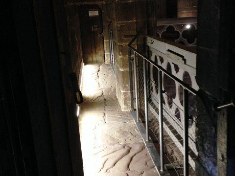 Chester Cathedral - Barriers to triforium level walkways