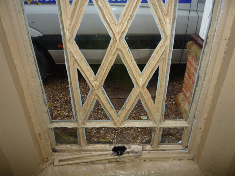 Several of the original cast iron windows were in a poor condition and no longer weathertight. The client asked us to replace them.