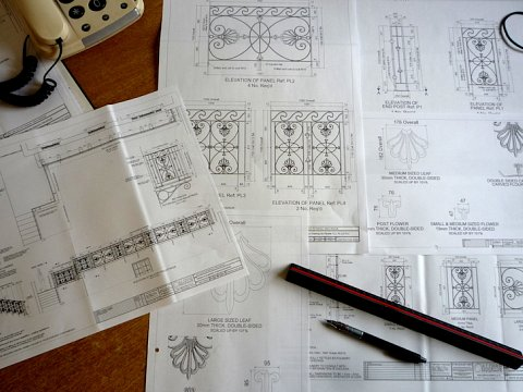 Bespoke pattern work was designed and detailed by our draughtsman.
