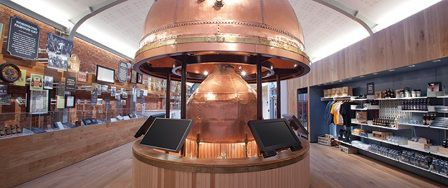 Robinsons Brewery Visitor Centre - Kettle in the visitor centre